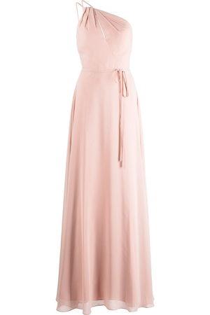 Marchesa Notte Pescara one-shoulder bridesmaid gown - Nude