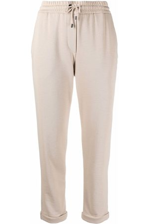 Brunello Cucinelli Cropped leg track pants - Nude
