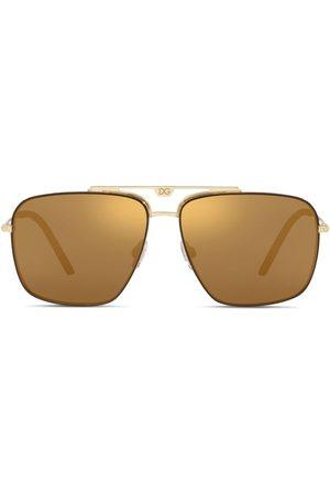 Dolce & Gabbana Eyewear Herren Sonnenbrillen - Getönte Pilotenbrille