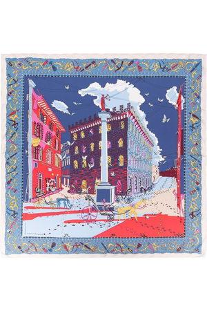 Salvatore Ferragamo Damen Schals - Palazzo Spini-Feroni print scarf