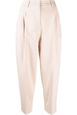 BLANCA High-waisted cropped trousers - Nude
