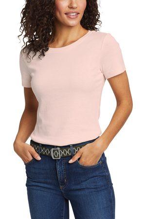 Eddie Bauer Damen T-Shirts - Favorite Shirt - Kurzarm mit Rundhalsausschnitt Damen Natur Gr. L