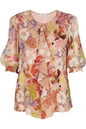 Etro Damen Blusen - Bedruckte Bluse aus Georgette