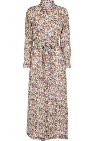 Etro Damen Freizeitkleider - Bedrucktes Maxikleid aus Ramie