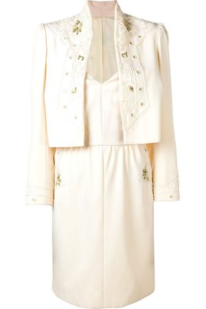 A.N.G.E.L.O. Vintage Cult Damen Jacken - Odicini Couture Set aus Kleid und Jacke - Nude