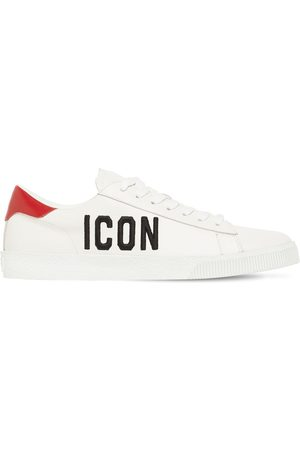 Dsquared2 Sneakers Aus Leder Mit Druck