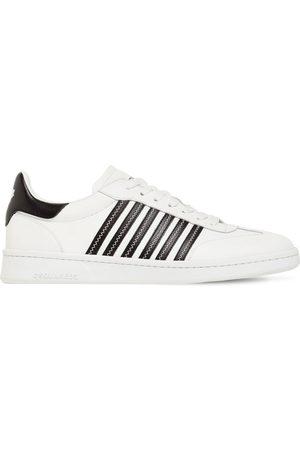 "Dsquared2 Ledersneakers Mit Streifen ""boxer"""