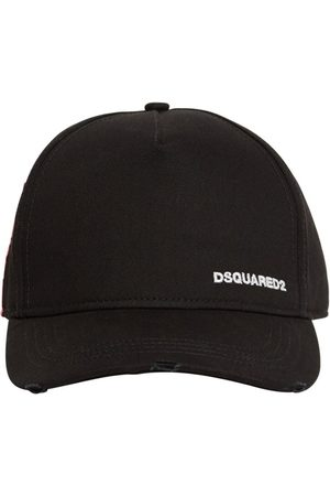Dsquared2 Kappe Aus Baumwollgabardine Mit Logo