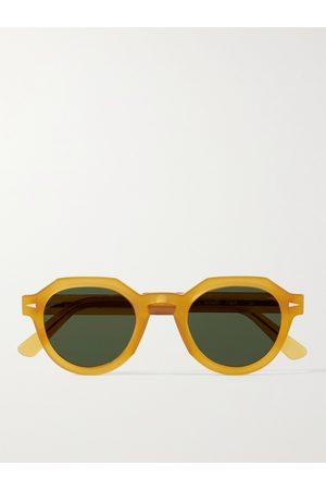 AHLEM Grenelle Round-Frame Acetate Sunglasses