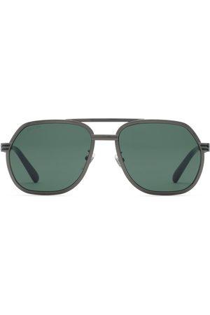 Gucci Herren Sonnenbrillen - Sonnenbrille mit Rahmen im Navigator-Stil