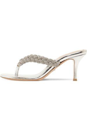 GIANVITO ROSSI 70mm Hohe, Verzierte Sandaletten Mit Zehensteg