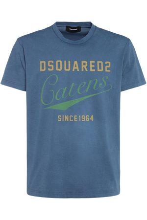 Dsquared2 T-shirt Aus Baumwolljersey Mit Logodruck