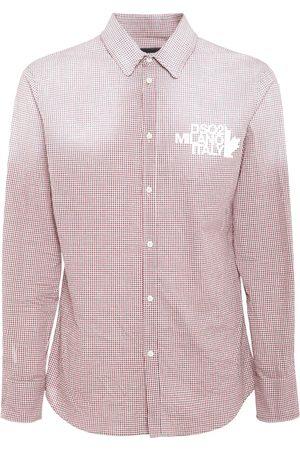 Dsquared2 Herren Hemden - Hemd Aus Baumwolle Mit Logodruck