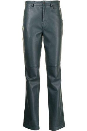 Proenza Schouler White Label Damen Leder & Lederimitathosen - Lederhose mit geradem Bein
