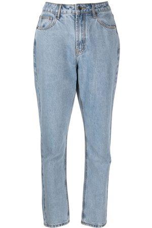 12 STOREEZ Gerade High-Rise-Jeans