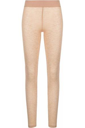 12 STOREEZ Damen Leggings & Treggings - Gestrickte Merinoleggings - Nude