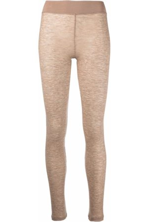 12 STOREEZ Leggings aus Feinstrick - Nude