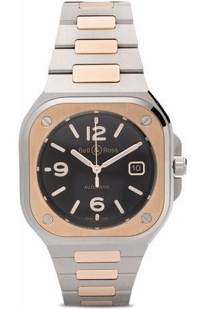 Bell & Ross Herren Uhren - BR-05 Black Steel Fliegeruhr 40mm