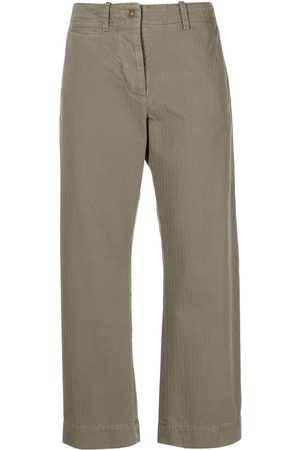 NILI LOTAN Tomboy cropped herringbone-pattern trousers
