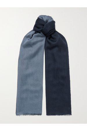 LORO PIANA Herren Schals - Fringed Colour-Block Cashmere and Silk-Blend Scarf