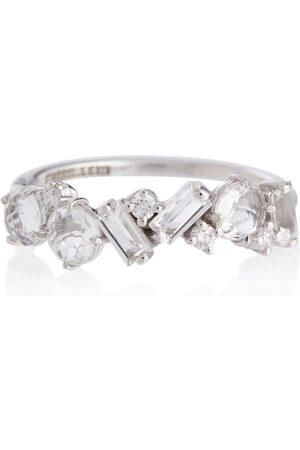 Suzanne Kalan Damen Ringe - Ring Amalfi aus 14kt Weißgold mit Diamanten und Topasen
