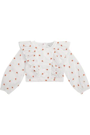 Stella McCartney Bestickte Bluse aus Baumwolle