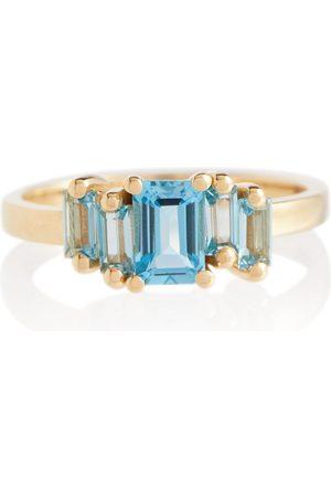 Suzanne Kalan Ring Amalfi aus 14 Karat Gold mit einem Smaragd und Topas