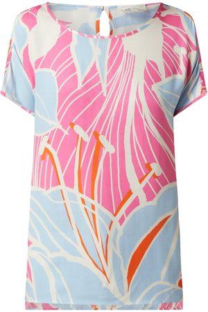 milano italy Damen T-Shirts - Blusenshirt mit floralem Muster