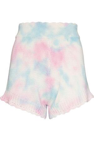 LoveShackFancy Damen Shorts - Karissa knitted tie-dye shorts