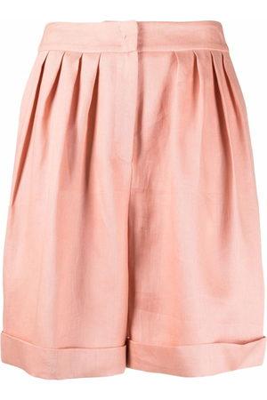 12 STOREEZ Damen Shorts - Shorts mit Bundfalten