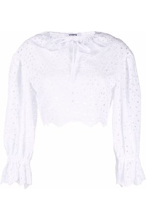 Vivetta Damen Oberbekleidung - Cropped broderie anglaise top