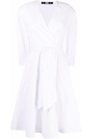 Karl Lagerfeld Damen Freizeitkleider - Kleid mit Logo-Stickerei