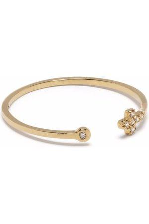 Feidt Paris 18kt yellow In The Moon For Love diamond cross ring
