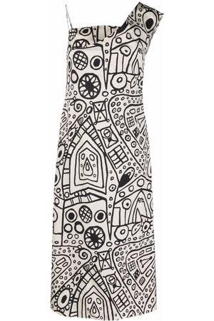 Colville Damen Asymmetrische Kleider - Graphic-print one-shoulder dress