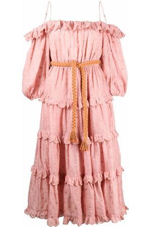 ZIMMERMANN Damen Freizeitkleider - Polka-dot print off-shoulder dress