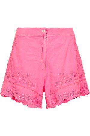 Juliet Dunn Bestickte Shorts aus Baumwolle