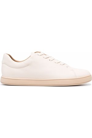 12 STOREEZ Leather lace-up trainers - Nude
