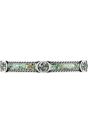 Gucci Interlocking G sterling silver bracelet