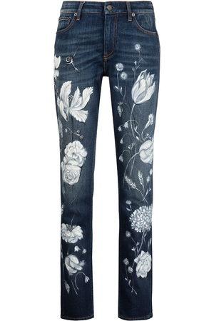 Ralph Lauren Floral-print slim-cut jeans