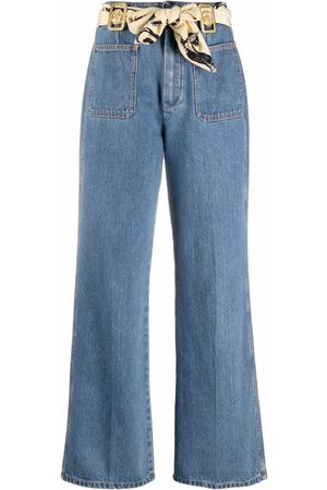 Lanvin High-waisted scarf-detail jeans