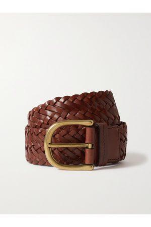 Tom Ford Herren Gürtel - 4cm Woven Leather Belt