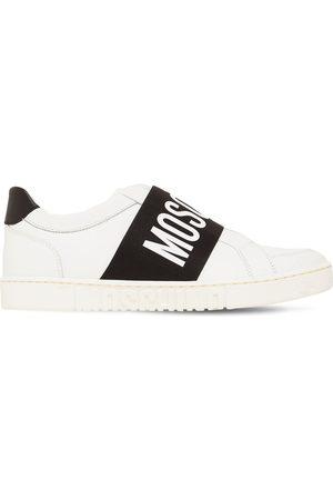 MOSCHINO Ledersneakers Mit Logo