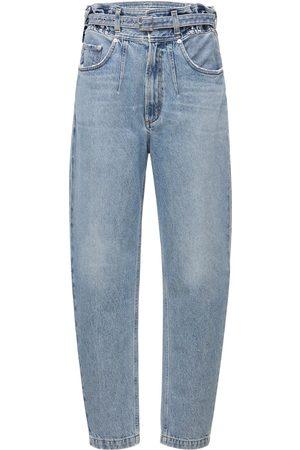 "AGOLDE Damen Cropped - Jeans Aus Baumwolldenim Mit Gürtel ""rive"""