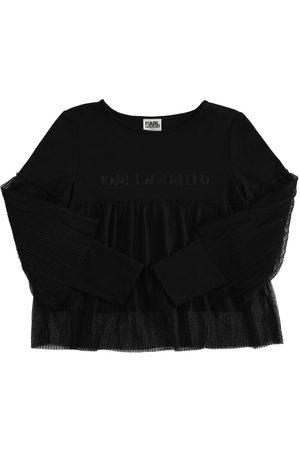 KARL LAGERFELD T-shirt Aus Baumwollmischung Mit Logo