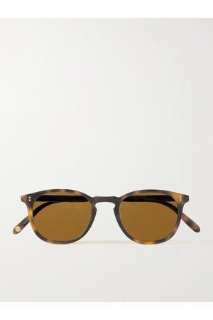 GARRETT LEIGHT CALIFORNIA OPTICAL Kinney 47 Round-Frame Tortoiseshell Matte-Acetate Sunglasses