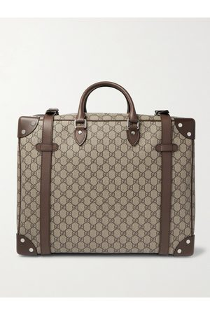 Gucci Herren Koffer - Leather-Trimmed Monogrammed Coated-Canvas Suitcase