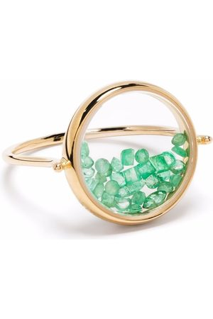 Aurelie Bidermann Damen Ringe - 18kt Chivor Gelbgoldring mit Smaragden