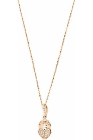 Aurelie Bidermann 18kt yellow Diamonds beetle pendant necklace