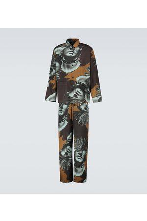 UNDERCOVER Bedruckte Pyjama-Hose aus Baumwolle