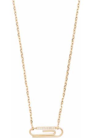 Aurélie Bidermann Damen Halsketten - 18kt yellow Paper clip diamond necklace